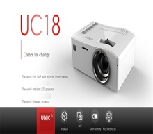 winait good selling mini portable home projector UC18 smallest home cinema LCD projector
