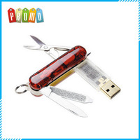 Wholesale promotional metal Multi-function knife with USB Flash drive