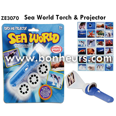 New Novelty Toy Sea World Change Animal Torch Projector