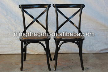 birch wood antique style cross back wedding dining chairs in dining room
