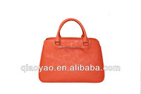Leather bag bright color leather trendy bag