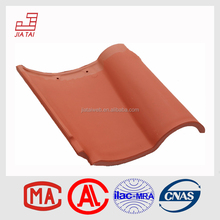 Red color Spanish villa clay roof tile