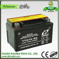 sealed mf YTX7A-BS motor cycle maintanance free batteries/rechargeable lead acid battery/motorcycle parts