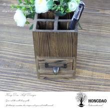 HONGDAO Christmas wood pen holder wooden letters