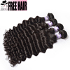 Factory Price dubai peruvian deep wave she's happy hair,100% loose human hair bulk extension for black women, deepwave hair