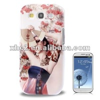 Cartoon Game Girls Design Plastic Case for Samsung Galaxy SIII / i9300