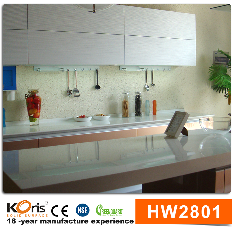 Korean maeble modified acrylic solid surface kitchen countertops