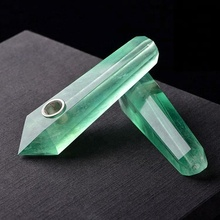 Wholesale high quality Green fluorite quartz smoking glass pipe parts
