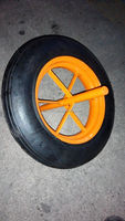14x4 wheelbarrow WB6400 solid rubber spoke wheels