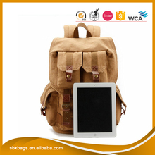 Wholesale fashion korea design canvas laptop backpack camera bag