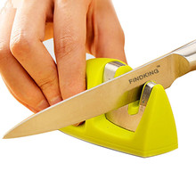 Two Stages (Diamond & Ceramic) Kitchen Knife Sharpener ,Sharpening Stone Household Knife Sharpener Kitchen Tools