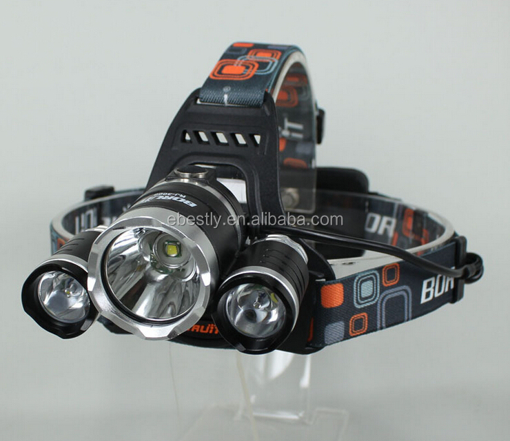 Best Seller headlamp RJ-3000 BORUIT led headlamp 5000 Lumen rechargeable led headlamp