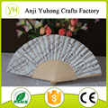 Factory supply Spanish wood fan as customized printing