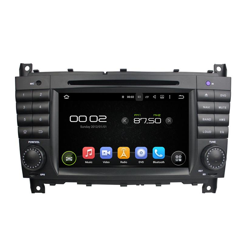 Support SWC, built-in microphone cell phone hands free android 5.1.1 car stereo system for Benz C class w203