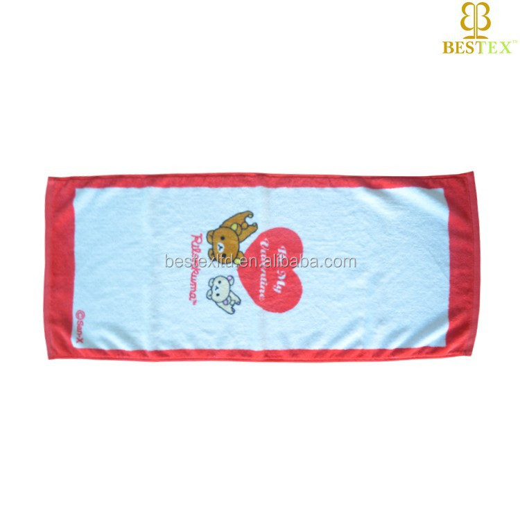Wholesale 100% Cotton Cartoon Custom Printed compress face towel