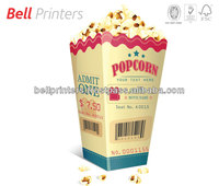 Custom printed popcorn cups with die cut from India