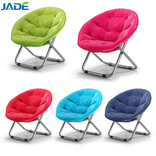 Lightweight foldable round outdoor moon chairs for camping small size folding moon beach chair for child