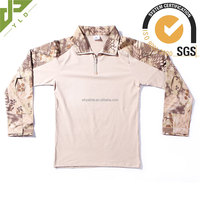mens military tactical breathable camo polo shirt