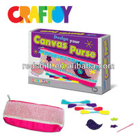Craft project for kids diy kit toy Make your Canvas Purse