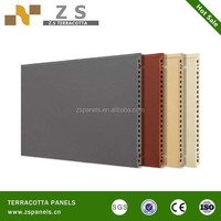 low cost light weight structure brick wall panel,lightweight curtain terracotta wall tiles, terracotta fasade panel for exterior