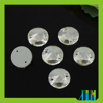 wholesale high quality crystal color sew on flat back glass rhinestones