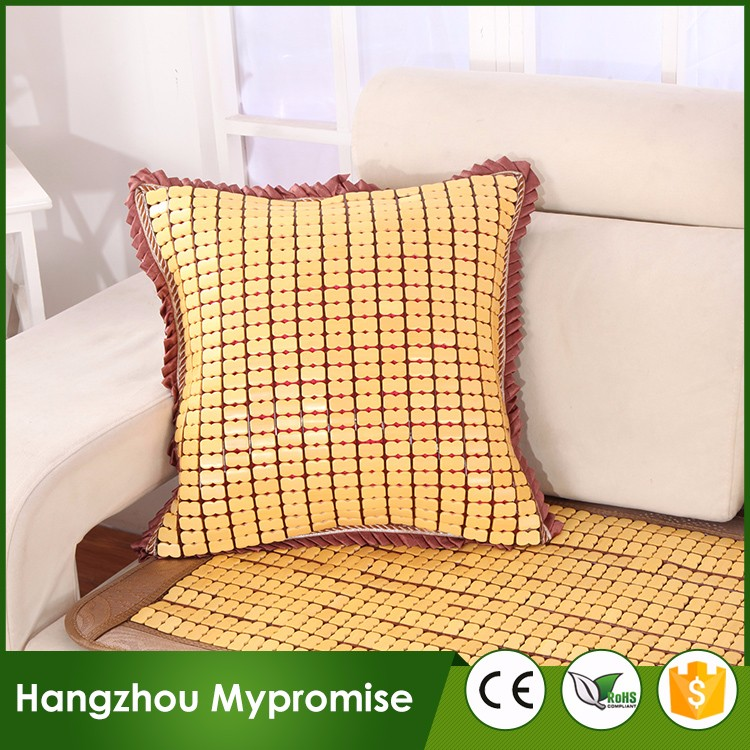 Wholesale high quality bamboo linen solid color pillow summer sofa cushion cover