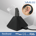 Rechargeable hearing aid power BTE with magnetic charging base