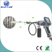 Auto A/C evaporator coil cleaning visible and portable air spray gun
