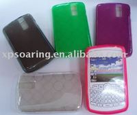 Round rubber clear case skin cover for Blackberry 8310 8230 8330