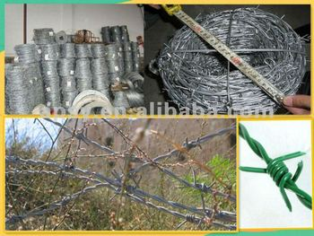 pvc coated barbed wire fence (China Factory)