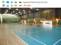 8mm Professional PVC Badminton/Basketball Sports Flooring