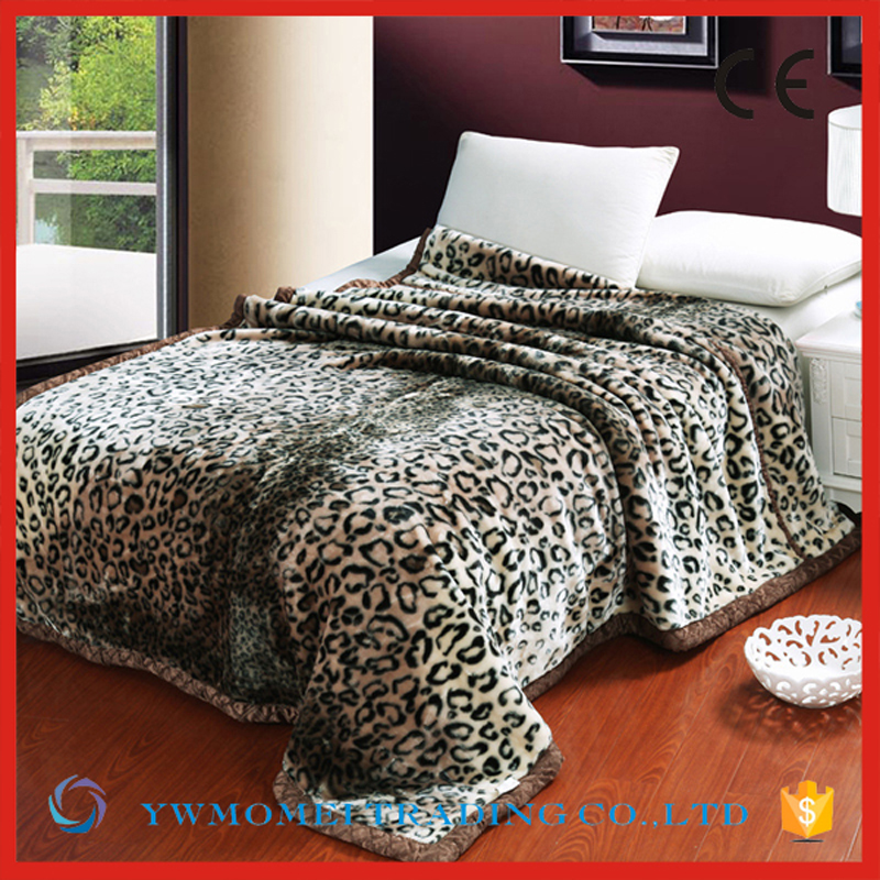 RMY008 sexy animal printed 100% polyester heating super soft animal print polyester blanket