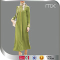 2016 Latest High Quality Embroidery Islamic Abaya Baju Kurung Islamic Clothes Women Green Thobe