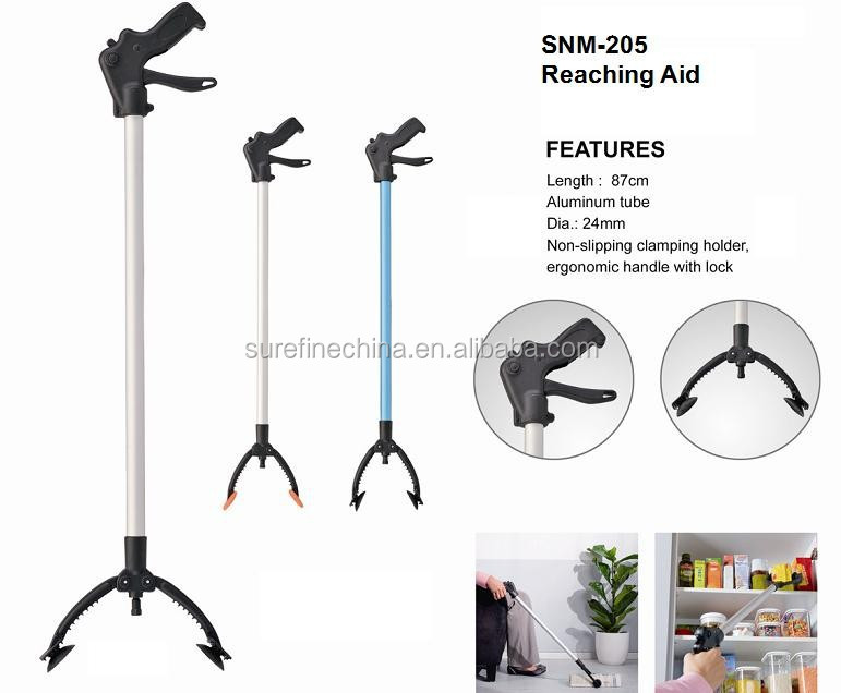 Reaching Aid with Anti-Slipping Clamping, Reacher Grabber Pickup Tool, Extendable Grabber Tool