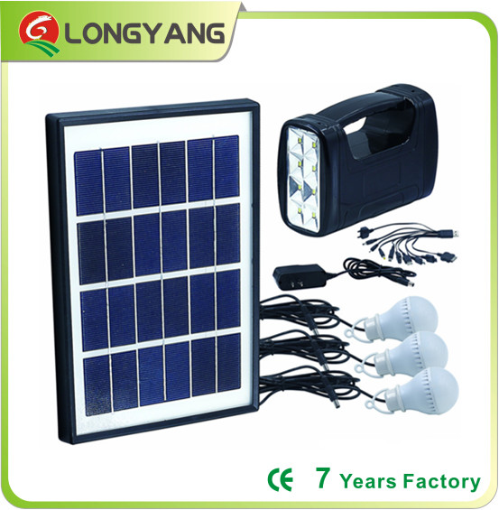Solar lighting kit solar lighting system for mini home lighting with mobile phone charger for the Middle East , Africa