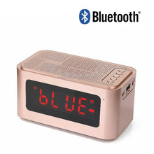 S61 Portable Wireless retro bluetooth speaker withTime Display&Alarm clock Handsfree Call Support TF Card for Computer Speakers