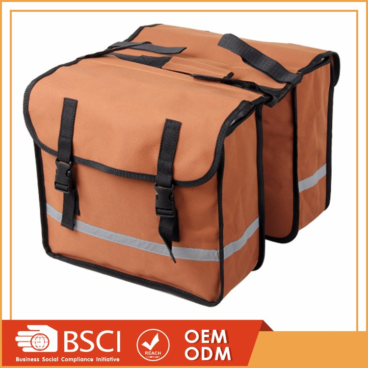 Multifunctional large capacity bicycle double rear rack pannier bag western saddle