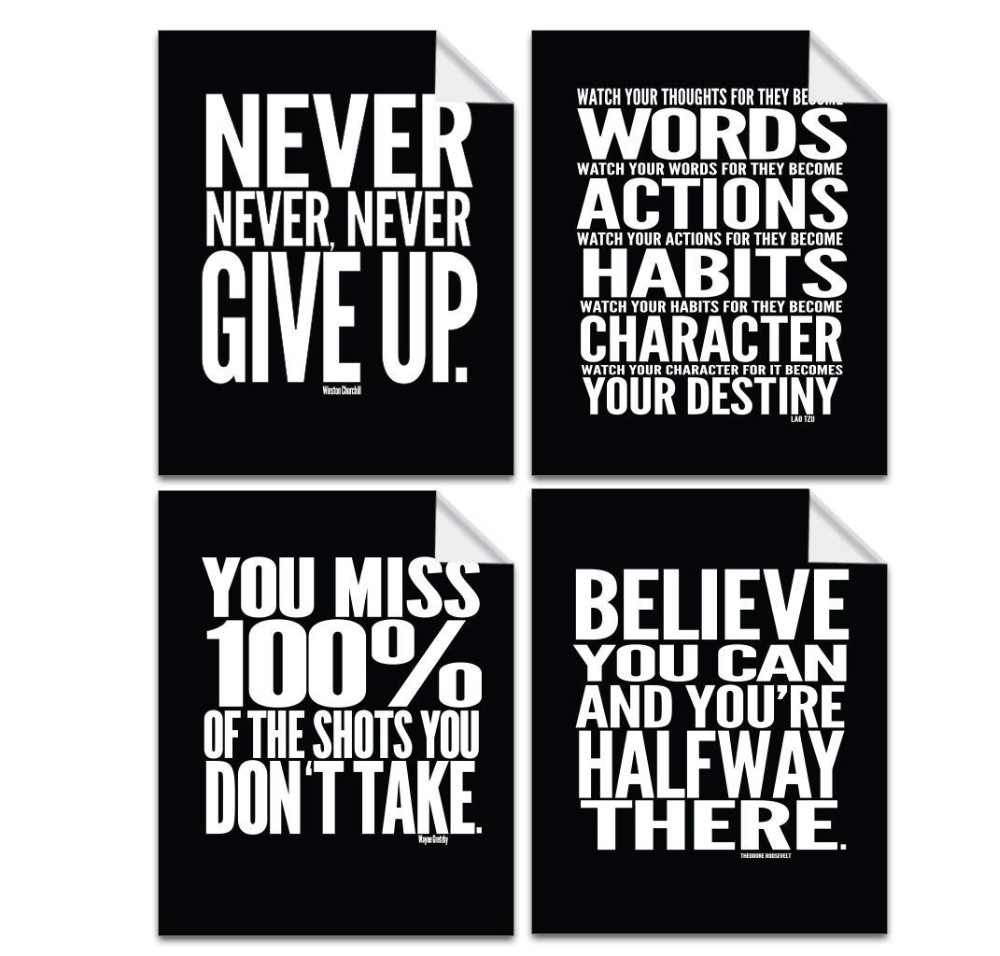 inspirational classroom posters chalkboard motivational quotes