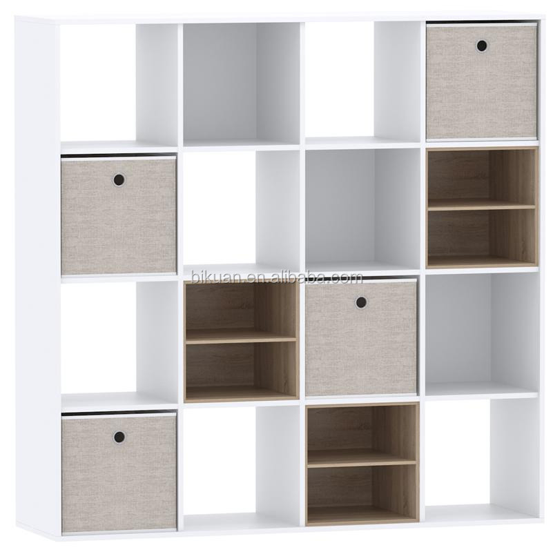 wood frame cube fabric organizer storage bin assembled cabinet with adjustble shape