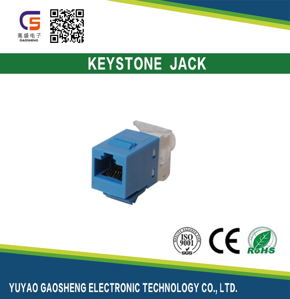 Cat.6A Cat.6 CAT.5e 110 or Krone RJ45 Quick Port Connector 180 Degree Keystone Jack