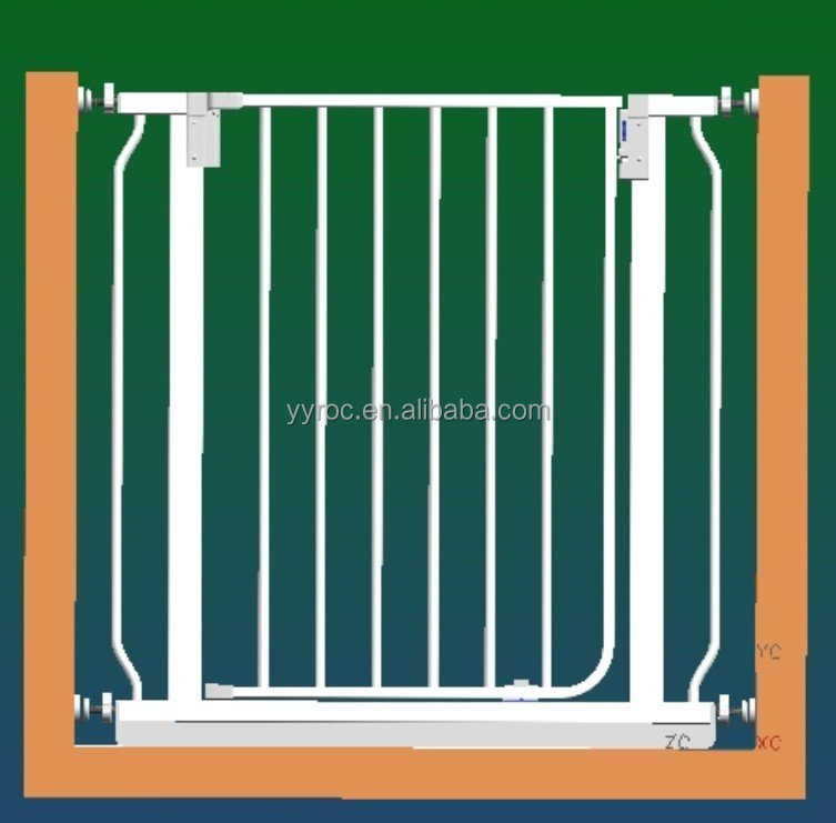 Pet friendly baby safety gate