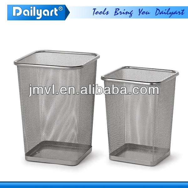 2015 Neat Square Shape Metal Waste Basket Dust Bin