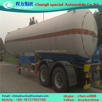 3axle lpg tansport semi trailer for propane cooking gas trailer