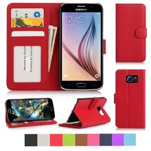 Business Style Hot Sale Premiun PU leather phone case with card slots for Samsung galaxy S6