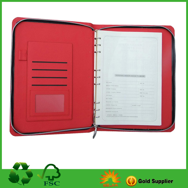 cheap Custom Promotion Notebook With Zipper