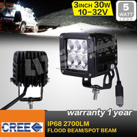 30W Auto led Work lamp Led fog Light waterproof IP67 car led headlight