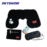 Wholesale Travel Accessories Airlines Travel Sleeping Kits With Pillow Eyemask Earplug