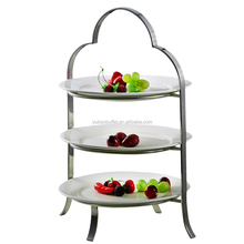 Yubao buffet 3 tier ceramic tapas pie plate buffet display stand wholesale