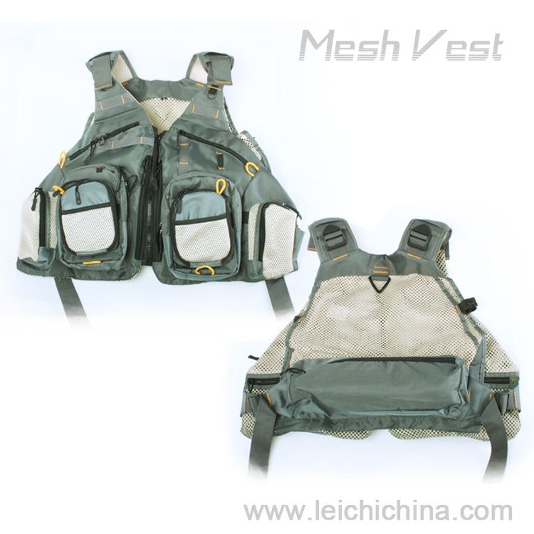 High quality professional fly fishing mesh fishing vest