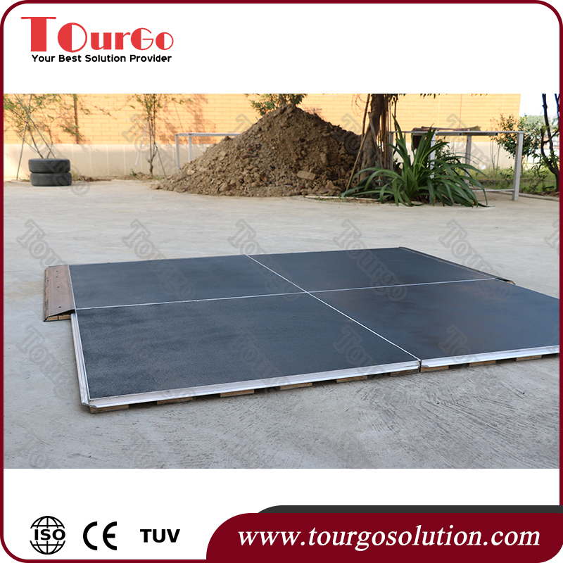 Thickness PP Interlocking Plastic Garage Floor Tiles for Car Show TourGO